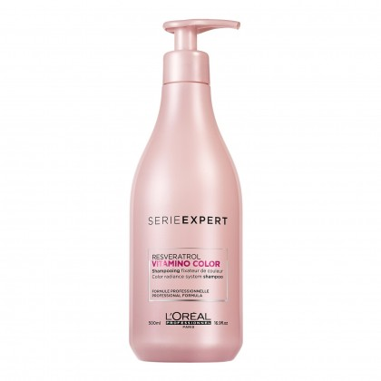Loreal Serie Expert Resveratrol Vitamino Color Shampoo - 500ml (New Packaging)